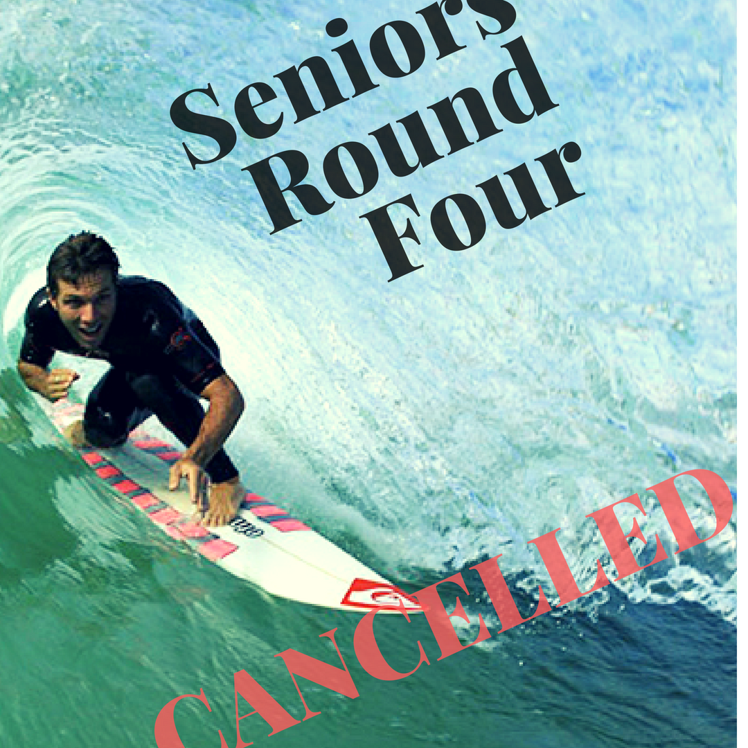 SENIORS CLUB ROUND #4 IS CANCELLED
